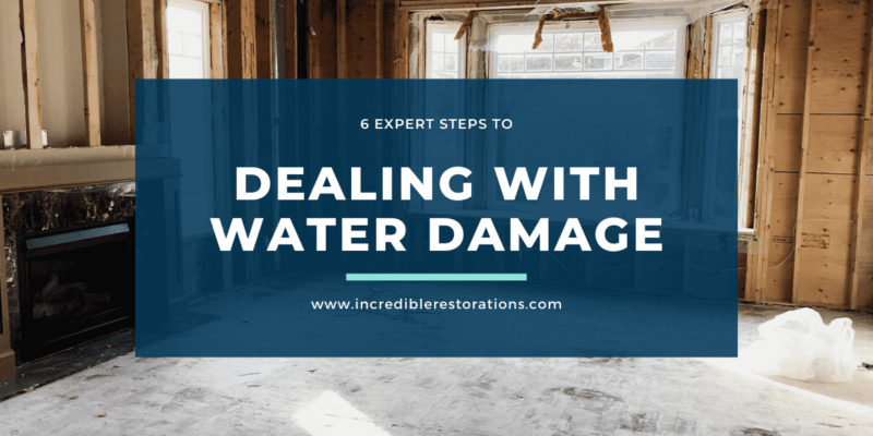 Dealing with water damage guide
